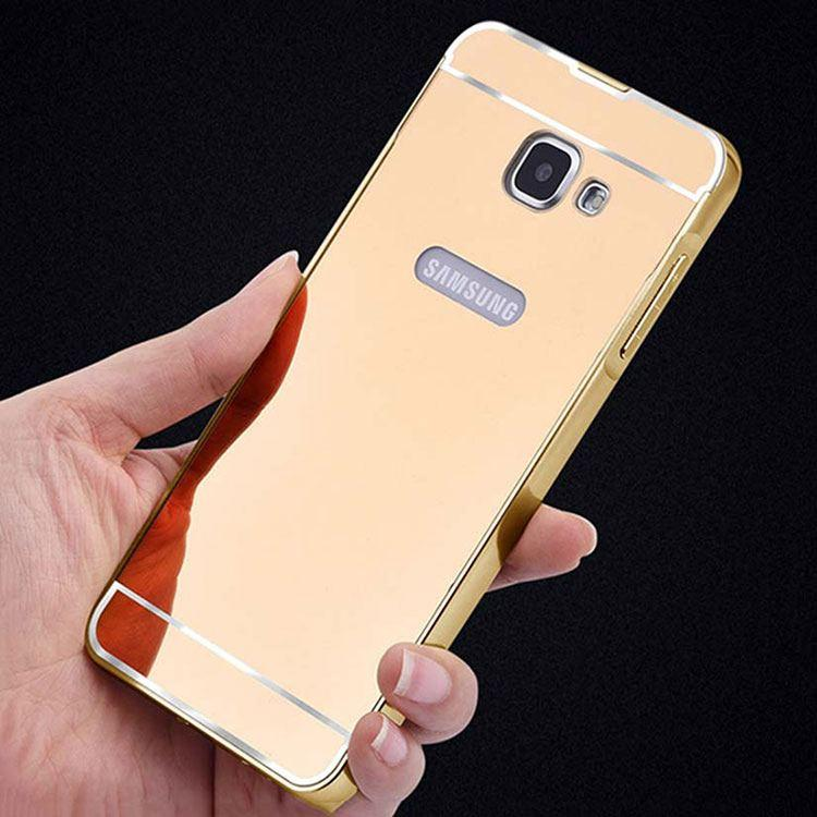 detailed look ca475 9033a Samsung Galaxy J5 Prime Back Cover Acrylic Mirror Metallic Back Case (Gold)