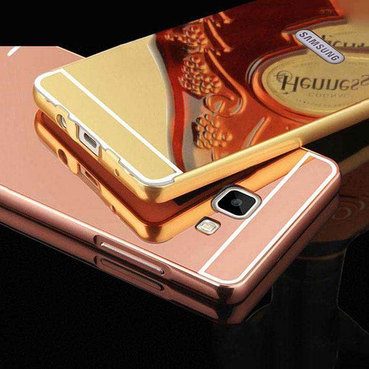 detailed look 3396e 42618 Samsung Galaxy J5 Prime Back Cover Acrylic Mirror Metallic Back Case (Gold)