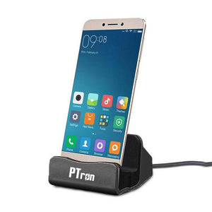 PTron Cradle Docking Station Charger Stand Adapter With Micro USB For All Vivo Smartphones Black