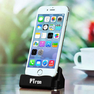 PTron USB To Lightning USB Docking Charger Dock Socle For iPhone 5 5s 6 6s 6 plus Smartphones Black
