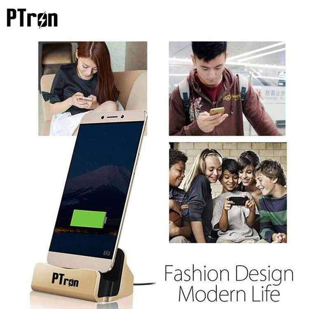 PTron Cradle USB Type C Docking Station Charger For Le 2 (Gold)
