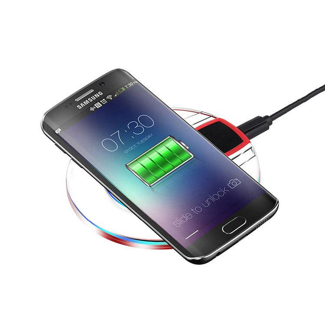 PTron Jasper Wireless Charger Ultra Thin Qi Battery Charger For Smartphones (Black/Red)
