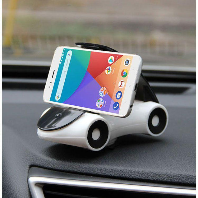 Roadster Car Mobile Holder Mobile Stand For Huawei Honor 7X (White)