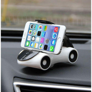 Roadster Car Mobile Holder Mobile Stand For All iOS Smartphones (White/Black)