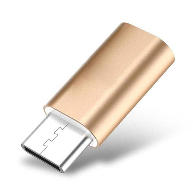USB To Type C OTG Adapter Converter For All Type C Compatible Smartphones (Gold)