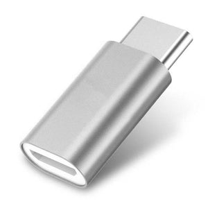 USB To Type C OTG Adapter Converter For All Type C Compatible Smartphones (Silver)