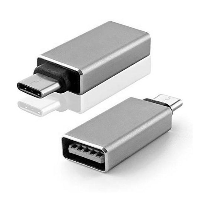 USB To Type C OTG Converter Adapter For All Type C Compatible Smartphones/Laptops (Silver)