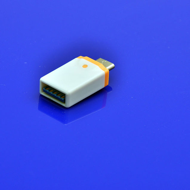 USB To Type C OTG Converter Adapter For All Type C Compatible Smartphones (White/Orange)