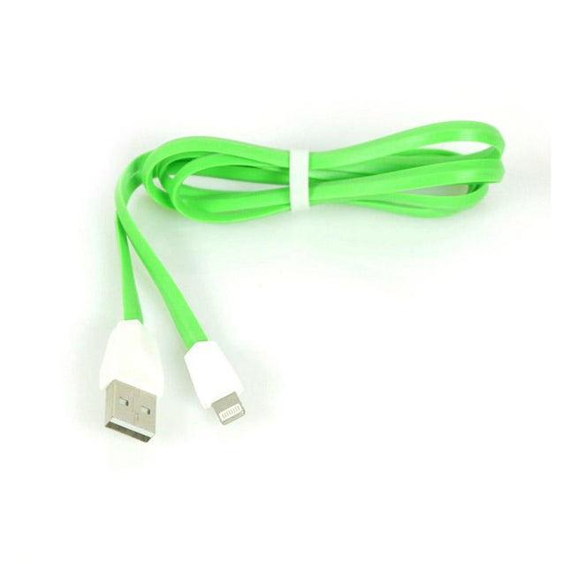 USB to Lightning USB Sync Charging Cable For All iOS iPhone Smartphones (Green/Silver)