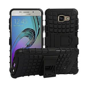 Samsung Galaxy A9 pro Back Cover Defender Case Hybrid Back Case With Stand (Black)