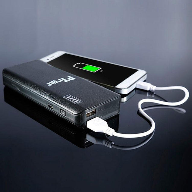PTron 8000mAh Power Bank With 2 USB Port For All Smarphones (Black)