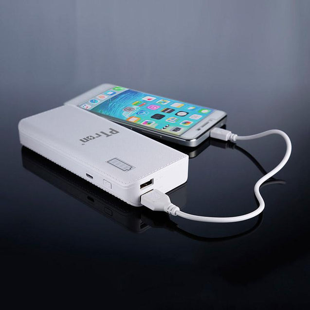 PTron New 8000mAh Power Bank With 2 USB Port And Battery Indication For All Smarphones (White)