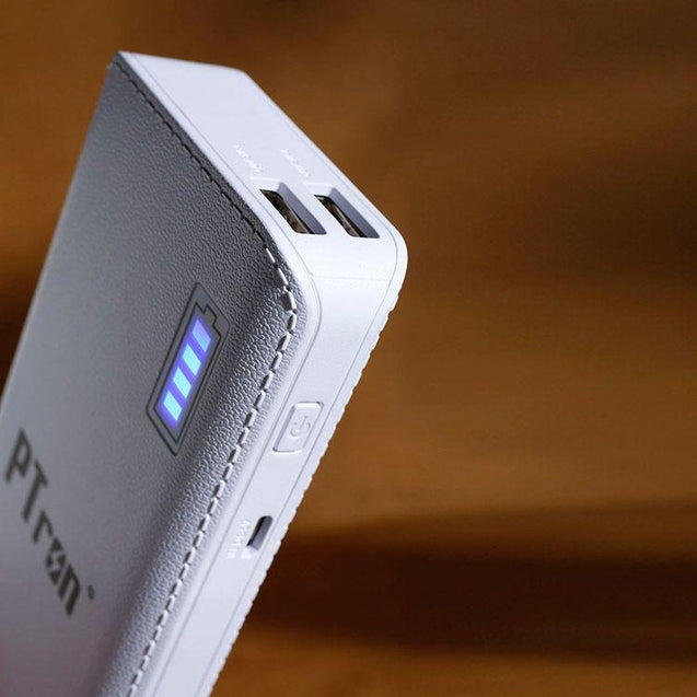 PTron Stylish 8000mAh Power Bank With 2 USB Port For All Lenovo Smartphones (White)