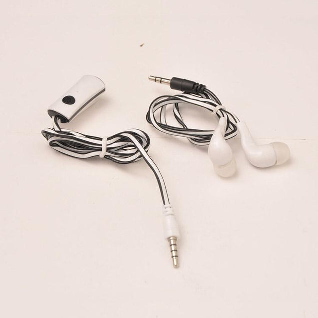 Universal In Ear Earphones With Mic 3.5mm Jack Compatible For All Smartphones (Black/White)