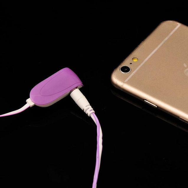 Universal In Ear Earphones With Mic 3.5mm Jack Compatible For All Smartphones (Purple/White)