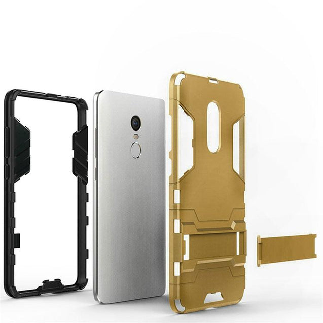 Xiaomi Redmi Note 4 Back Cover Hybrid Shock Proof Armor Hard Back Case (Gold)