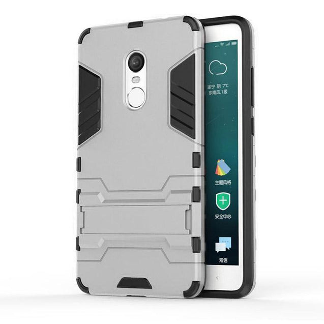 Xiaomi Redmi Note 4 Back Cover Hybrid Shock Proof Armor Hard Back Case (Silver)