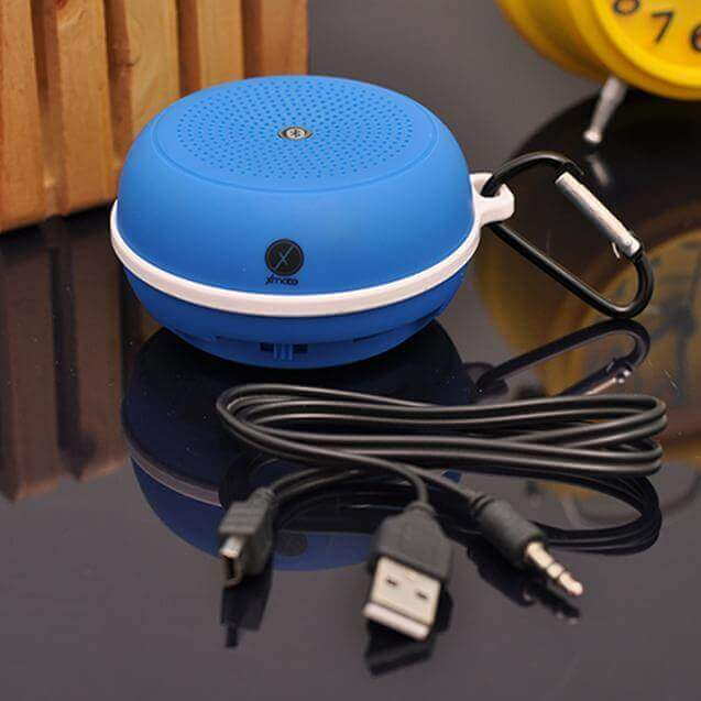 Xmate Hum New Designed Mini Portable Water Resistant Bluetooth Speaker For All Smartphones (Blue)