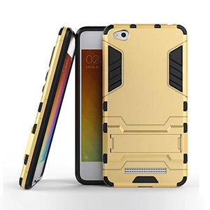 Xiaomi Redmi 4A Back Cover Hybrid Shock Proof Armor Hard Back Case (Gold)