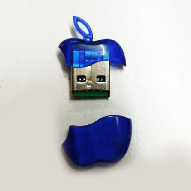 Universal USB Card Reader Designed With Apple Shape (Blue)