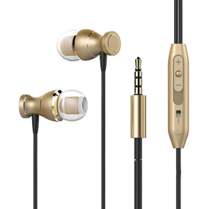 PTron Magg India's Best In-Ear Headphone with Noise Cancellation (Gold/Black)
