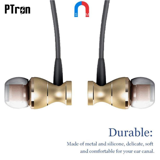 Original PTron Magg India's Best In-Ear Headphone For Samsung Galaxy On7 (Gold/Black)