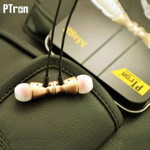 Original PTron Magg India's Best In-Ear Headphone For Samsung Galaxy S6 Edge Plus (Gold/Black)