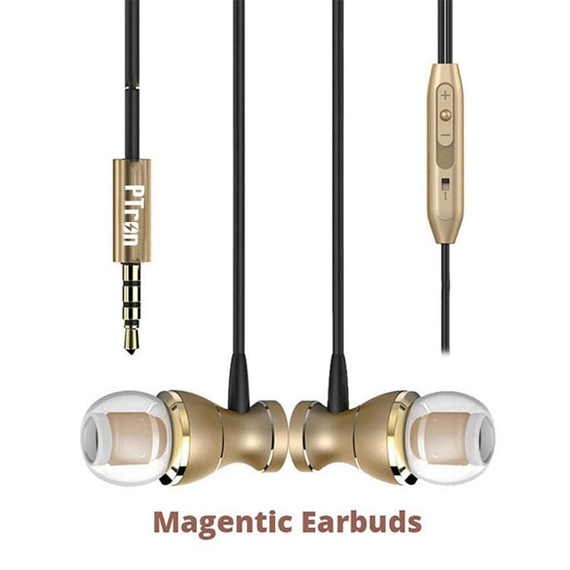 Original PTron Magg India's Best In-Ear Headphone For Samsung Galaxy S7 (Gold/Black)
