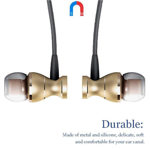 Original PTron Magg India's Best In-Ear Headphone For Samsung Galaxy J7 2015 (Gold/Black)