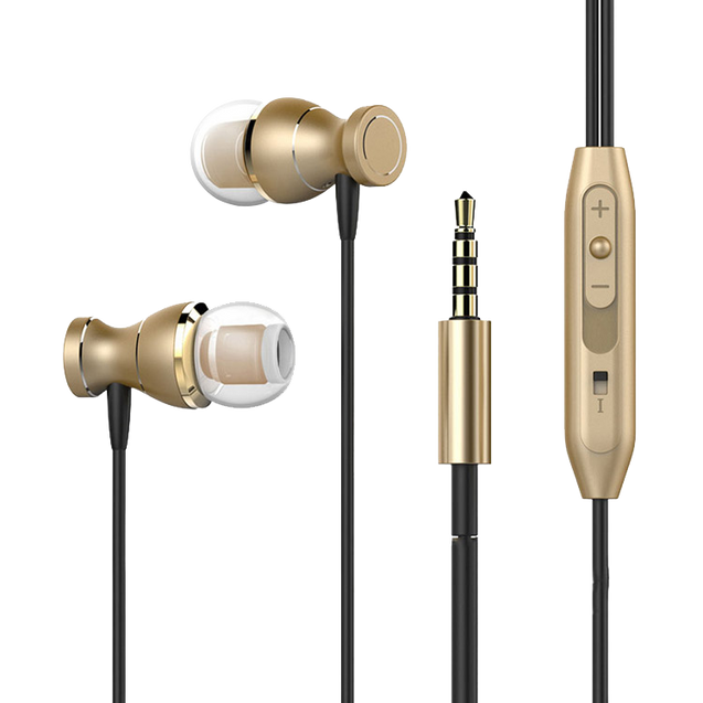 Original PTron Magg India's Best In-Ear Headphone For Samsung Galaxy J5 2017 (Gold/Black)