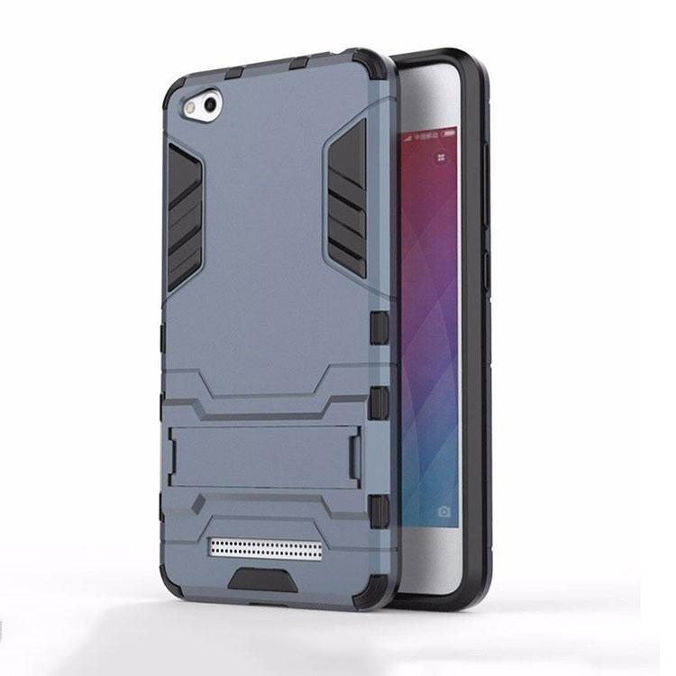 more photos 57aed a62be Xiaomi Redmi 4A Back Cover Hybrid Shock Proof Armor Hard Back Case (Blue)