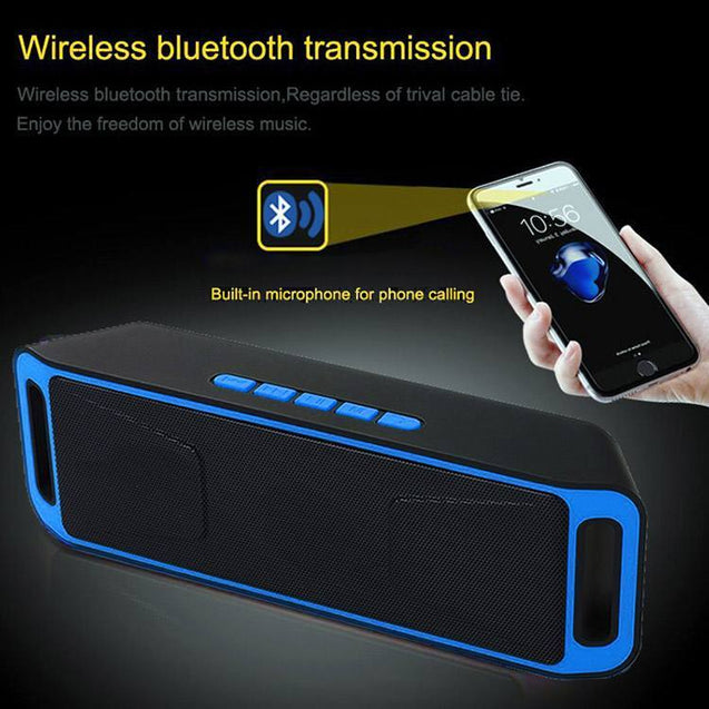 PTron Throb Wireless Bluetooth Speaker For All Smartphones (Blue)