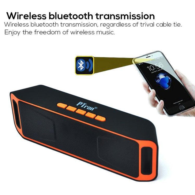 PTron Throb Wireless Bluetooth Speaker For All Smartphones (Orange)