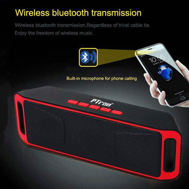 PTron Throb Wireless Bluetooth Speaker For Sony Xperia XA2 Ultra (Red)