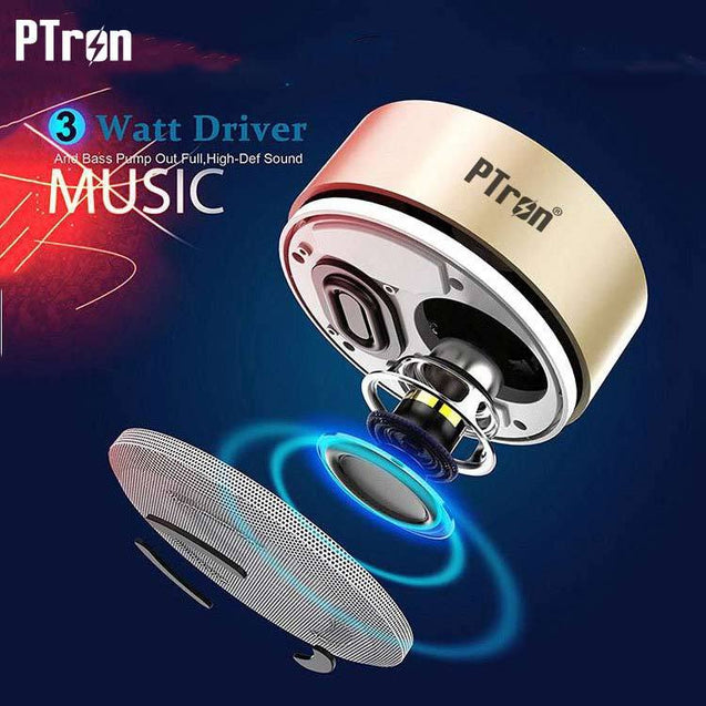 PTron Sonor Bluetooth Speaker New Fashionable Wireless Speaker For Samsung Galaxy Tab E 8.0 (Gold)