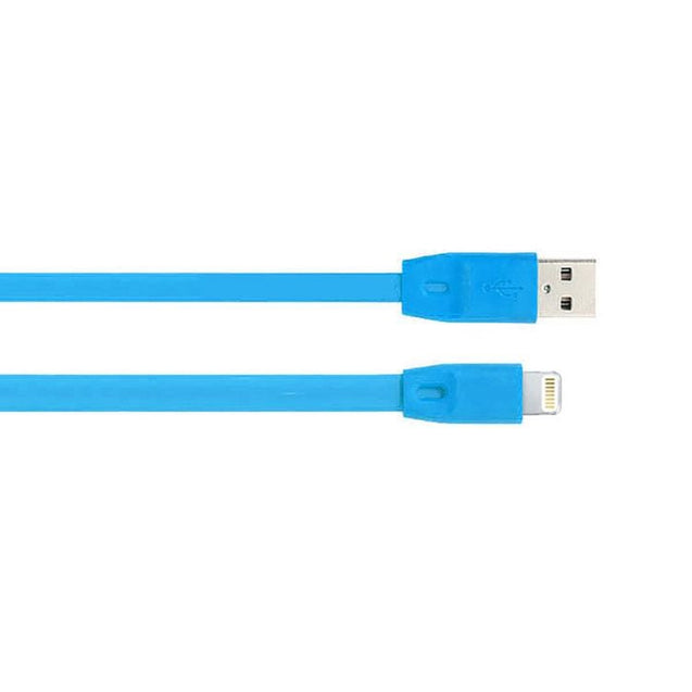 USB To Lightning USB Noodle Data Cable Sync Charging Cable For All iOS Compatible Smartphones (Blue)