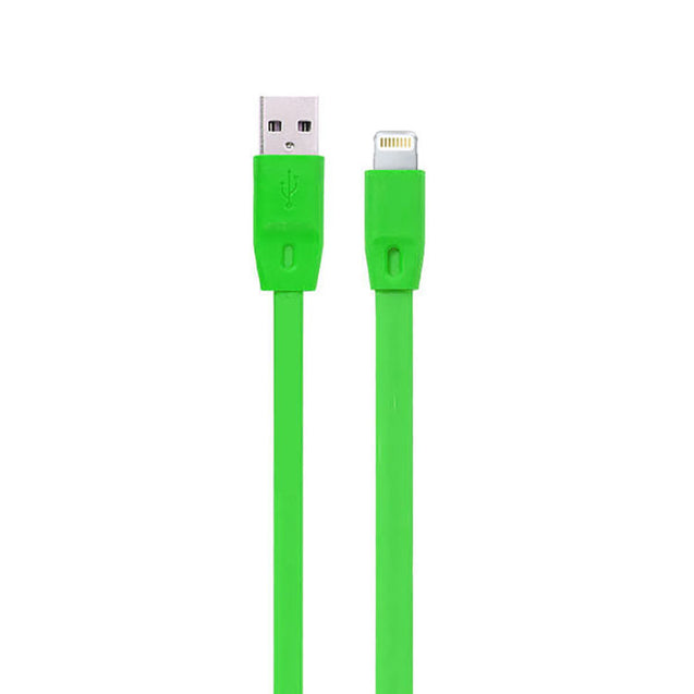 New USB To Lightning USB Cable Noodle Data Cable Sync Charging Cable For All iOS Compatible Smartphones (Green)