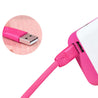 PTron USB To Lightning USB Data Cable Sync Charging Cable For iOS Compatible Smartphones Pink