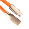 PTron Metal USB To Micro USB Data Cable Sync Charging Cable For Android Smartphones (Orange/Silver)