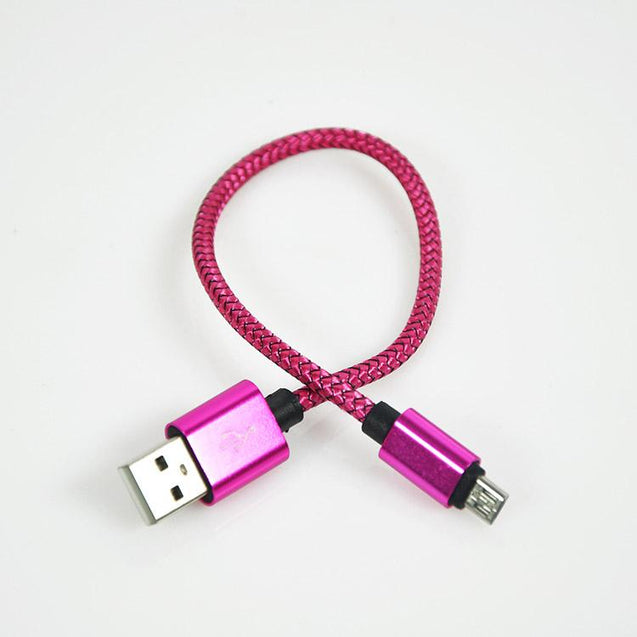 PTron Latest USB To Micro USB Weave Data Cable Sync Charging Cable For All Android Smartphones Pink