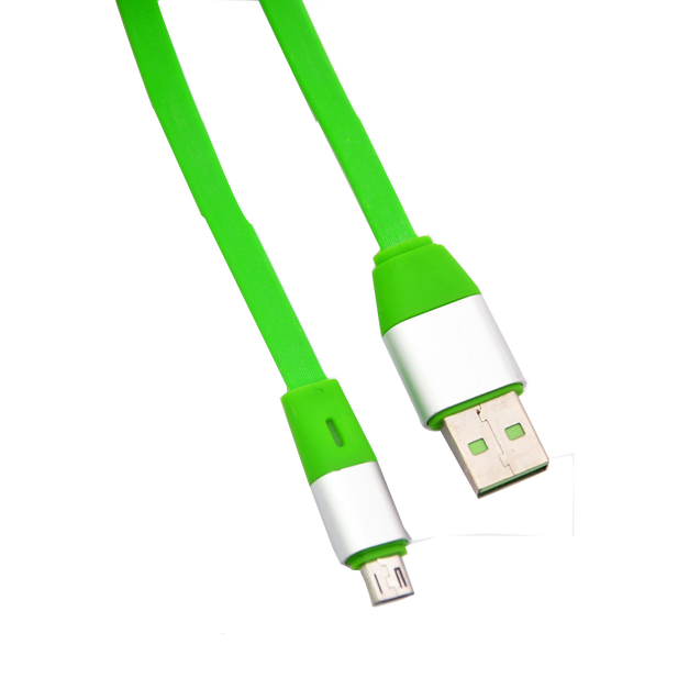 PTron USB To Micro USB Cable 2Amp Data Sync Charging Cable For All Android Smartphones Green/Silver