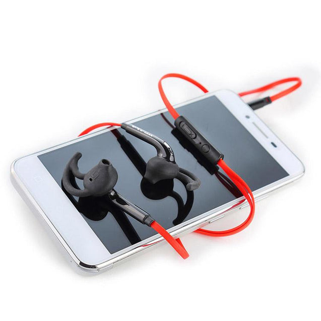 PTron Swift In-Ear Sports Stereo Earphone For All iPhones (Black/Red)