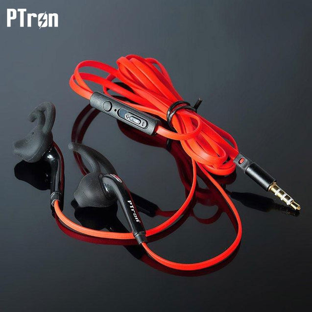 PTron Swift In-Ear Sports Stereo Earphone For All Sony Xperia (Black/Red)