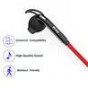 Refurbished - pTron Swift In-Ear Stereo Wired Earphones with Mic for All Smartphones - (Black/Red)