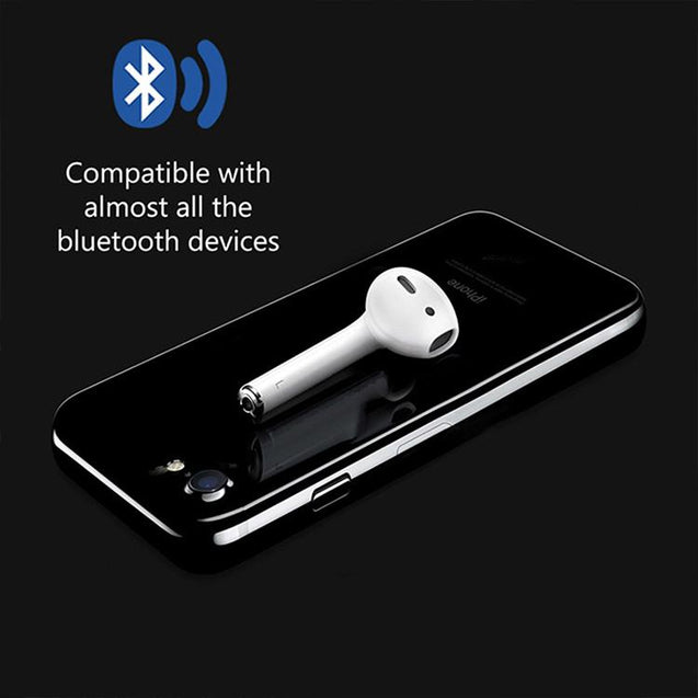 PTron Torpedo Bluetooth Mono Earpod With Mic For All iOS And Android Smartphones (White)