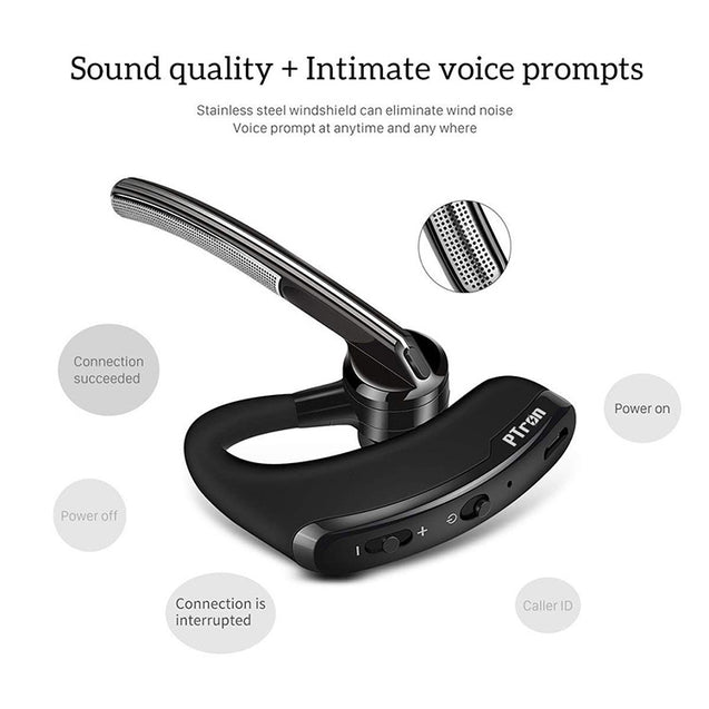 PTron Rover Bluetooth Headset With Voice control Headphone For All Vivo Smartphones (Black)