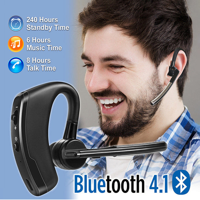 PTron Rover High Quality Bluetooth Headset With Voice control Headphone For All Smartphones (Black)