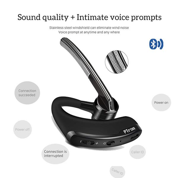 PTron Rover High Quality Bluetooth Headset With Voice control Headphone For All Smart Phones (Black)