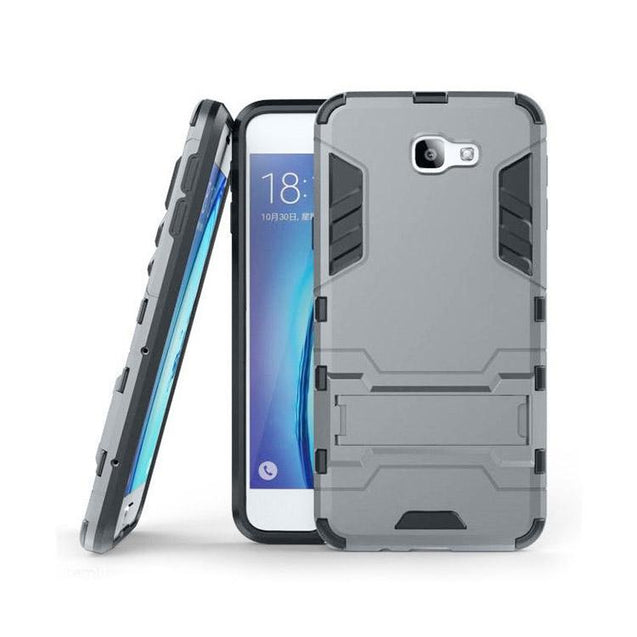Samsung Galaxy J7 Prime Back Cover Hybrid Shock Proof Armor Hard Back Case (Grey)
