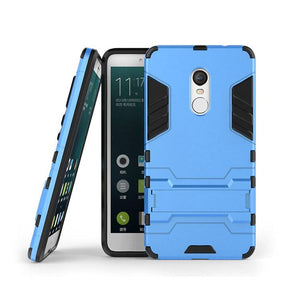 Xiaomi Redmi Note 4 Back Cover Hybrid Shock Proof Armor Hard Back Case(Deep Blue)